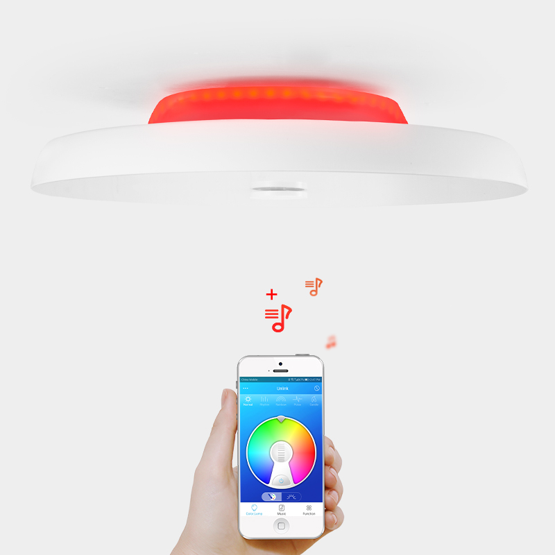 Modern LED Ceiling Light Dimmable 36W 48W 72W APP Remote Bluetooth Speaker Music Light Living Room Bedroom Smart Ceiling Light in Ceiling Lights from Lights Lighting