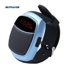 Alarme Horloge LED Affichage Sans Fil Bluetooth Haut-Parleur Sport Montre Smart Watch Auto-minuterie À Distance Montre les mains libres haut-parleur avec FM Radio