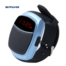 Alarm Clock LED Display Wireless Bluetooth Speaker Sports Smart Watch Self-timer Remote hands-free Watch speaker with FM Radio