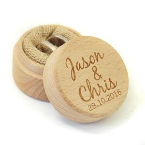 Image 4 - Custom Ring Box, Personalized Wedding / Valentines Engagement Wooden Ring Bearer Box, Rustic Wedding Ring Box Holder