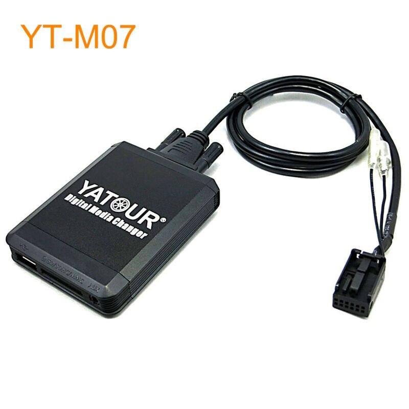 Yatour Car MP3 USB SD CD Changer for iPod AUX with Optional Bluetooth for Citroen C2 C3 C4 DS3 C6 C8 Berlingo Nemo Jumpy