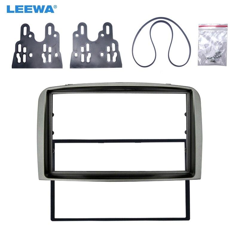 LEEWA Double Din Facia for ALFA ROMEO 147 Radio DVD Stereo CD Panel Dash Mounting Installation Trim Fascia Kit Face Frame Bezel