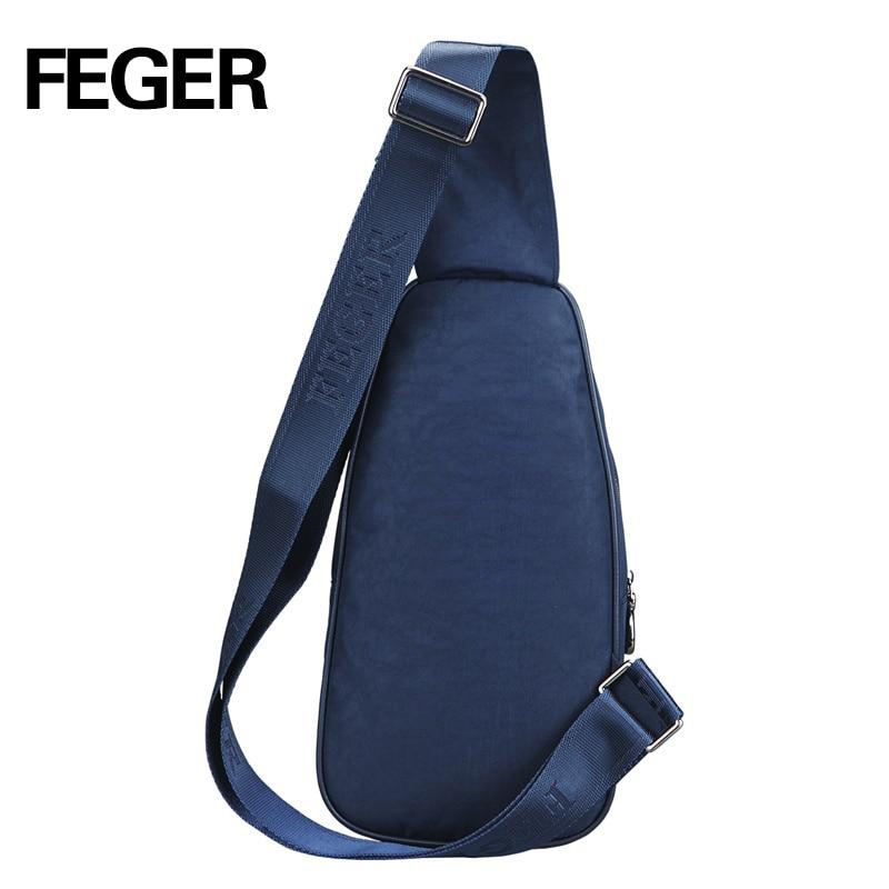 FEGER Casual Durable Soft Nylon Mens Messenger պայուսակներ - Պայուսակներ - Լուսանկար 3