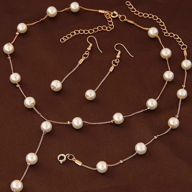 M MISM Pearls Pendant Necklaces for Women Multi-Style Necklace Jewelry Accessories Wedding Gift Party Anniversary Necklace Set