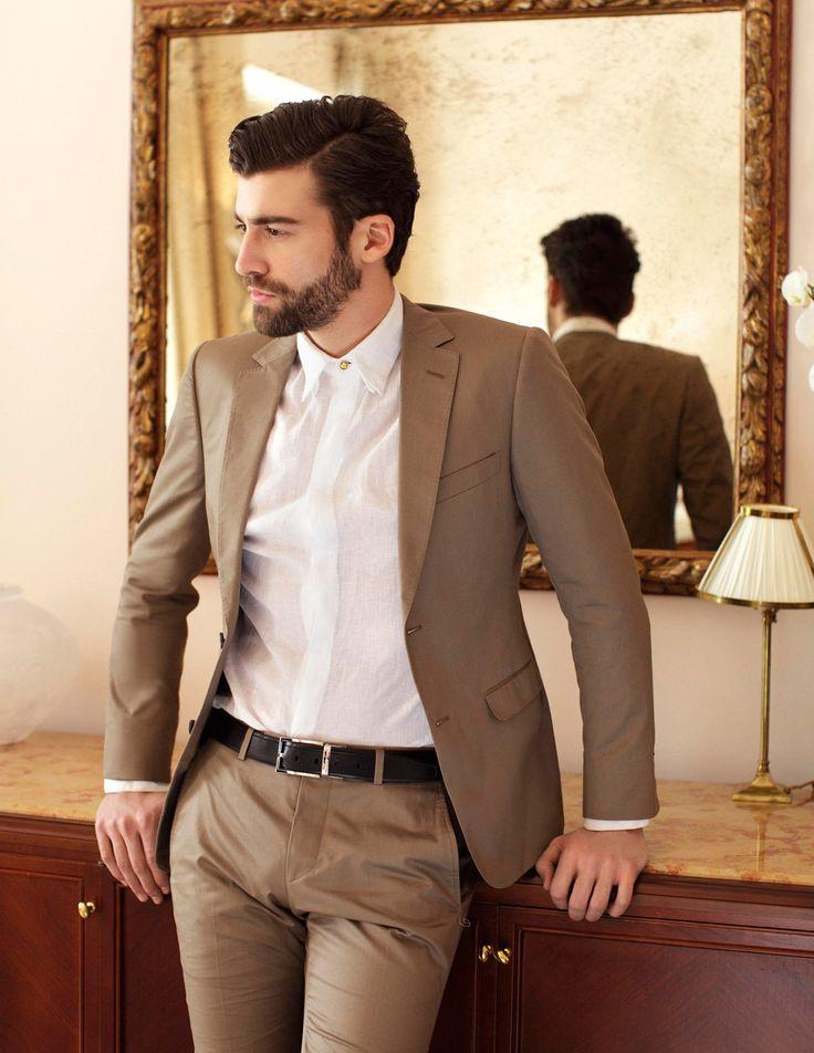 High Quality Men Brown Casual Pants Slim-Buy Cheap Men Brown ...