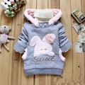 baby girls jackets  infant coats with bag newborn winter hoodies toddler clothing for girls thicken Cartoon outfits Rabbit coat