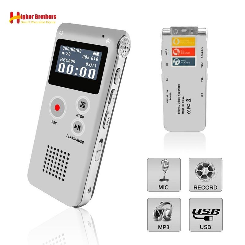 Digital Voice Recorder Unterhaltungselektronik Tragbare 8g/16g Voice Recorder Usb 96 Stunden Wiedergabe Diktiergerät Digital Audio Sound Voice Recorder Mit Wav Mp3 Player