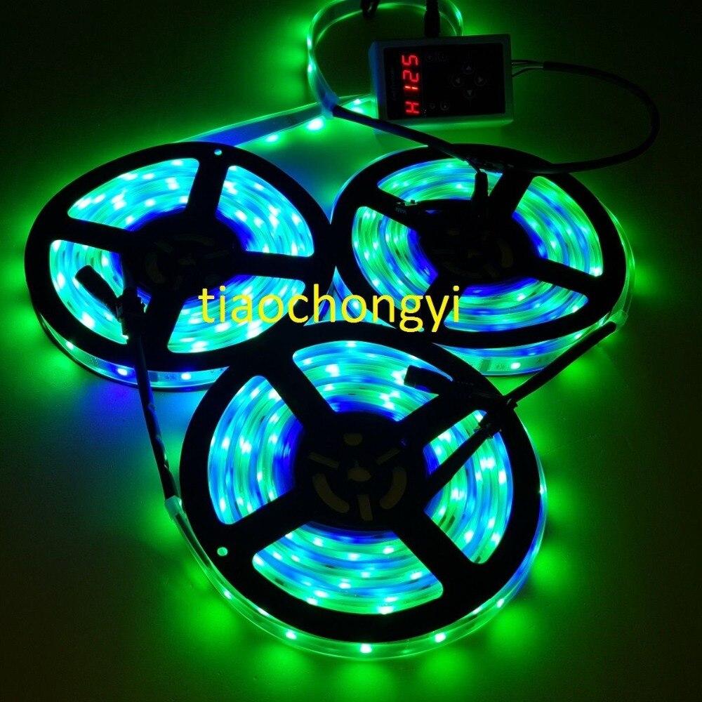 15 M 3X5 M 450 LED s 5050 RGB rêve couleur 6803 IC LED bande 133 changement + RF Rmote - 3