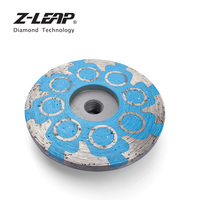 Z LEAP 1Piece 4 Diamond Grinding Wheel Resin Filled Metal Bond Segments Flat Sanding Disc M14 Thread Grinder Disc Abrasive tool