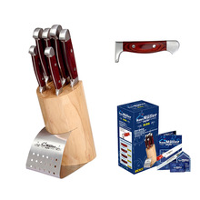 7PCS Multifunctional Universal Stainless Steel Colorful Knives Sets Kitchen Tools with Bakelite Handle