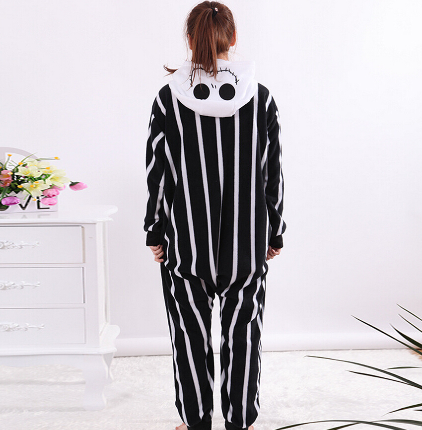 d6e17ff19 Kigurumi Adults Cartoon Unisex Men Women Skeleton Jack Onesies Pajamas  Sleepsuit Cosplay Costumes For Halloween Party-in Anime Costumes from  Novelty ...