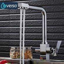 Everso питьевой воды кран свинец 3 Way фильтр для воды очиститель 360 вращать фильтр Кухня кран мойки смесители кран