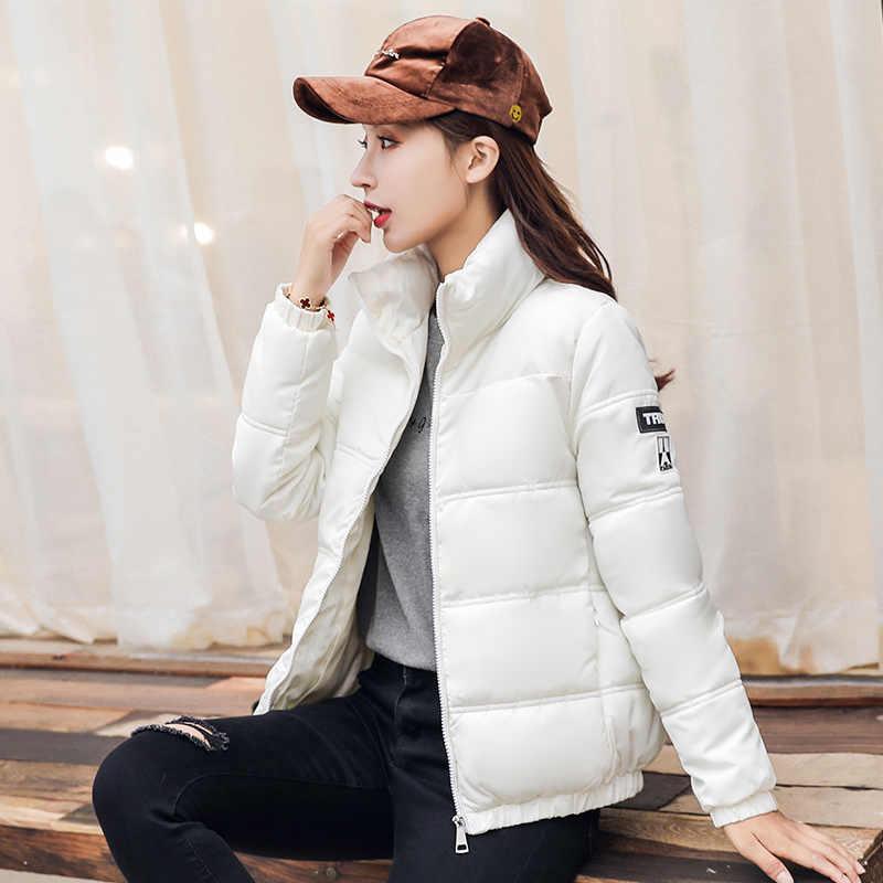 2018 Winter Mantel Frauen neue Koreanische mode baumwolle tuch Solide Zipper Lässige Parka weibliche Parkas Mujer Invierno Casacos Femininos