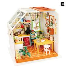 DIY Dollhouse Wooden Miniature Furniture Kit Mini Green House Birthday Gifts for Girls Boys Adults 998(China)
