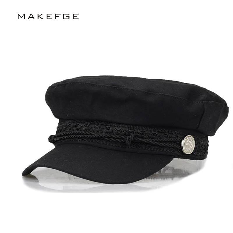 2017 Autumn Winter Beret women's newsboy caps Octagonal Cap for Women Men England Style Retro Flat Cap boina Flat cap