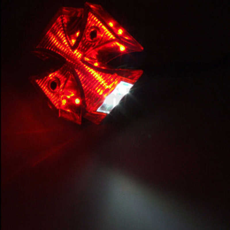 Accessories Automobiles & Motorcycles New Fashion Motorcycle Choppers Dirt Bike Maltese Cross Led Rear License Plate Tail Light