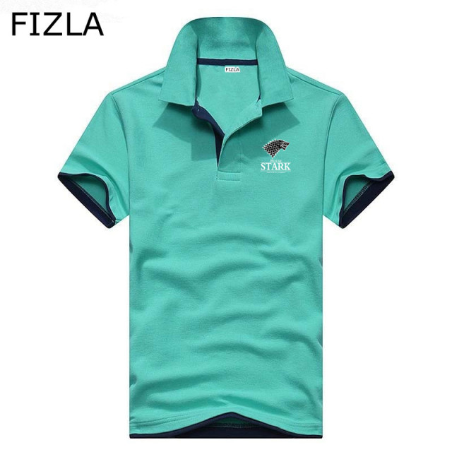 2018 Newest Europe size Casual polo shirt Men Solid polo shirt brands Game of Thrones polo shirts Breathable Short sleeve men