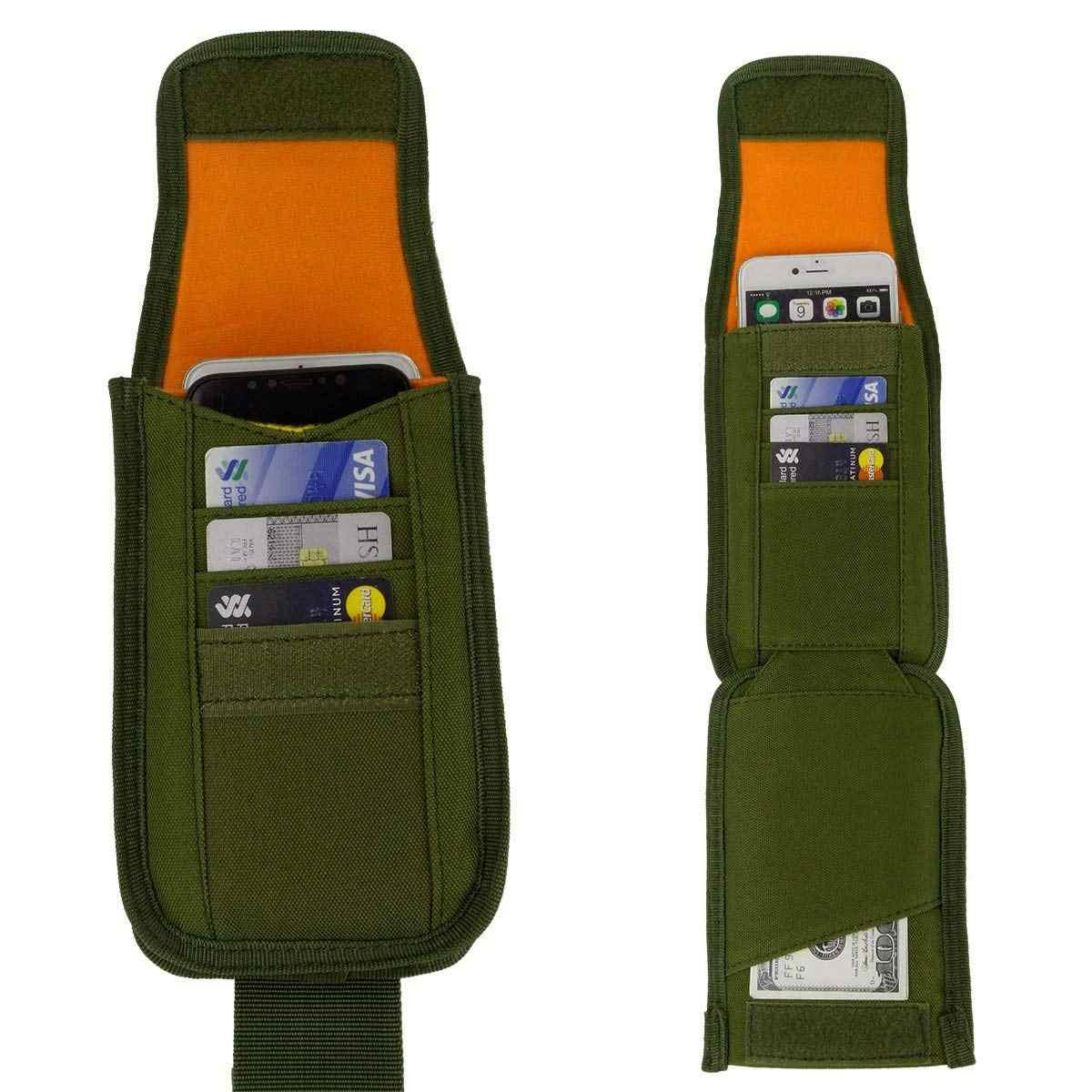 Chiến thuật Molle Bao Da Điện Thoại Ngoài Trời Vành Đai Thắt Lưng Túi Tiện Ích Vest Thẻ Tàu Sân Bay Túi Mini Multi-chức năng Gói Túi Du Lịch EDC Pouch