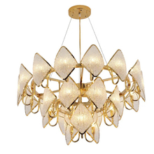 Modern LED Crystal Pendant Lights luxury gold chrome Dining Room Lamp Cord Lustres Light Fixtures Bar Dimming light