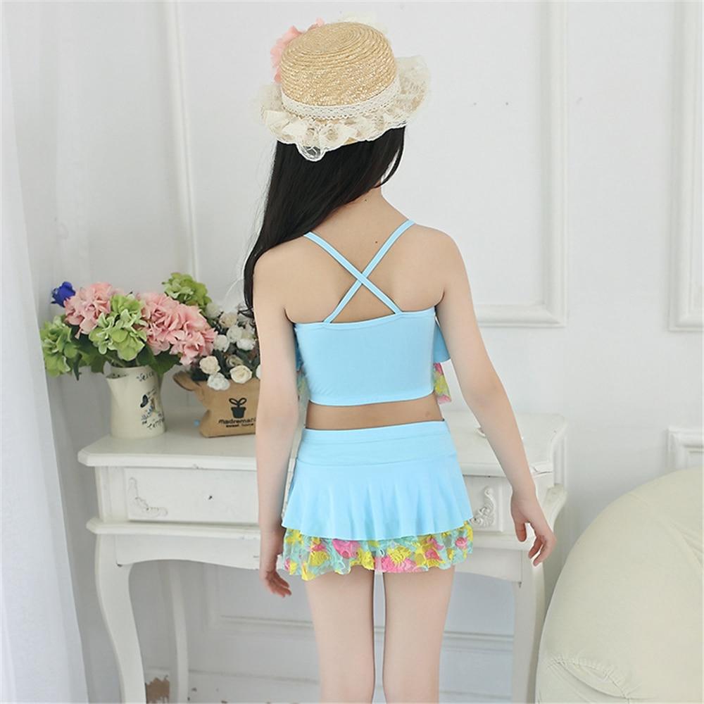 2018 New Summer Two Pieces Biquini Kids Girls Bikini Swimsuit Lovely Baby Infantil Hot Sale Baby Swimwear