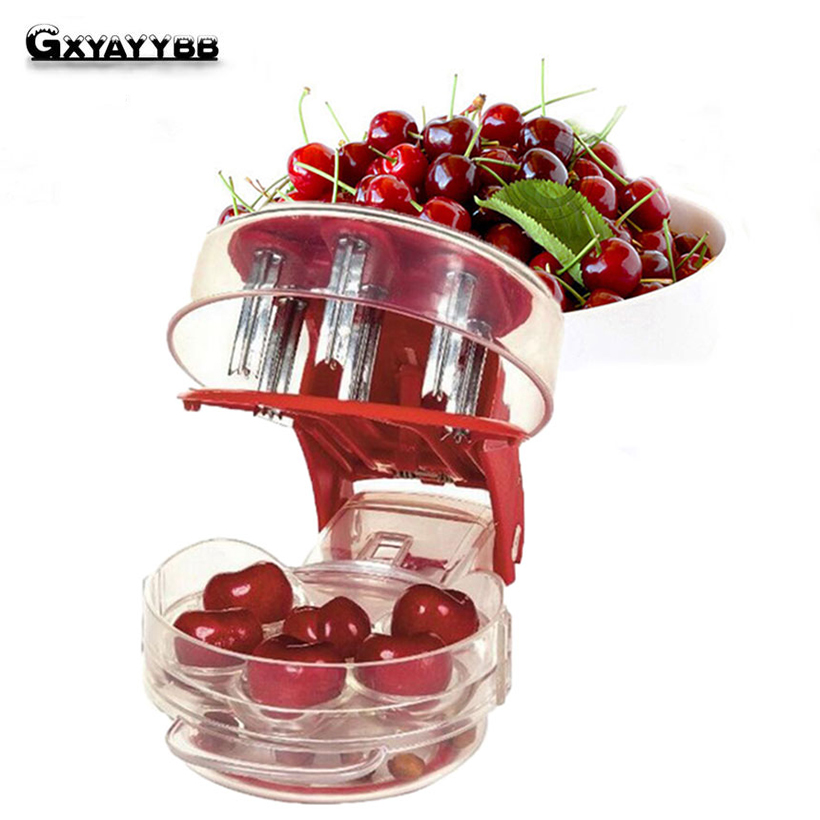 Cherry Pitter Seed Tools Quickly Pits 6 Cherries At Once Stoner Corer Remover Machine Nordic Cherries Kitchen Gadgets Tools
