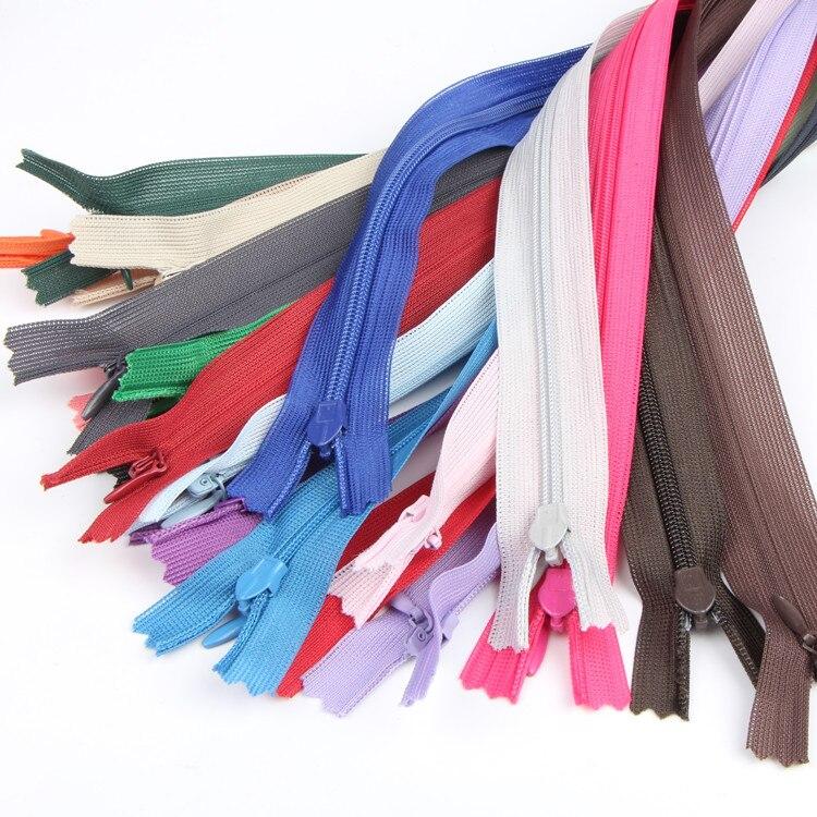 40/60 см невидимая застежка-молния для юбки скрытая 3 # нейлоновая застежка-молния для шитья/одежды аксессуары «сделай сам» ручная работа