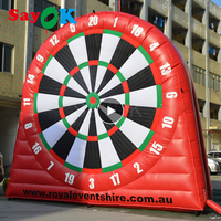 Giant Outdoor Inflatable Soccer Dart, Inflatable Football Dart, Inflatable Dart Board Games 5mH