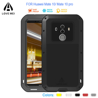 Mate 10 Shockproof Waterproof Metal Case for Huawei Mate 10 Powerfu Full protection Aluminum Armor for Huawei Mate 10 Pro Cover