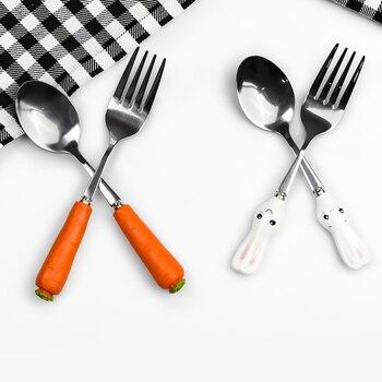 Cutlery Set Children Dinnerware Set Stainless Steel 1