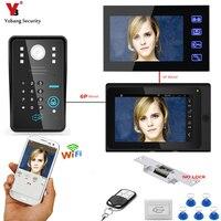 YobangSecurity Video Intercom 2X 7 Inch Monitor Wifi Wireless Video Door Phone Doorbell KIT RFID Password
