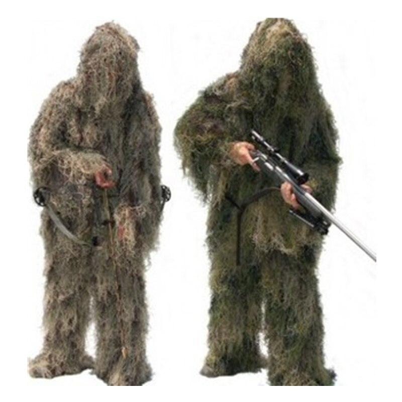 Camouflage chasse Ghillie costume secret chasse aérienne tir vêtements Sniper costumes Camouflage vêtements armée Airsoft uniforme