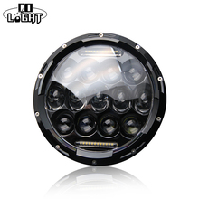 COLIGHT 1PCS 75W Round Led Headlight Daytime Running Lights Motorcycle Projector For Jeep Harley Davidson Lada 4×4 Offroad