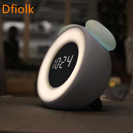 NEW LED mute alarm clock creative bedroom bedside electronic clock smart children cute cartoon rechargeable night light brelong smart timing sleep bedside sensor alarm clock night light