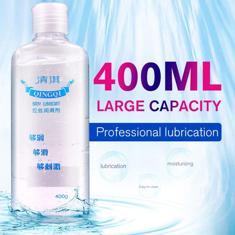 Qing Qi 400 ml Schmiermittel Für Sex Seide Touch Gleitmittel Auf Wasserbasis Öl Sexuelle Anal Für Paar Erwachsene Masturbation Homosexuell spielzeug