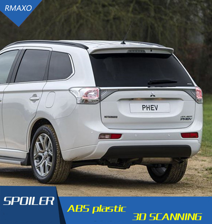 Rear Unpaint Factory Style Spoiler Wing Trim For Mitsubishi Outlander 2013-2016