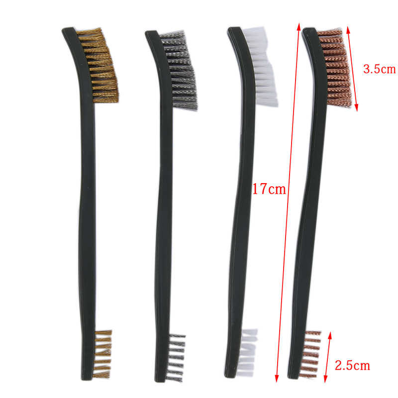 1pcs Rifle Cleaning Tool With Brass Brush Double Ended Wire Brush Tool Gun Cleaning Tool Rifle Cleaner Hunting Accessory