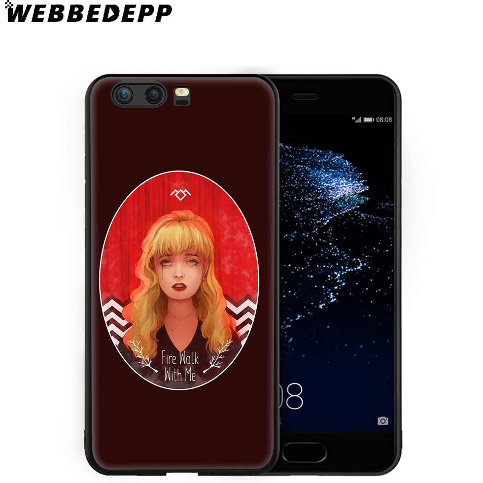 WEBBEDEPP Twin Peaks Tv Custodia Morbida per Huawei P8 P9 P10 P20 P30 Lite Pro P Smart Z Più 2019 y6 Prime 2018 2017 Lite Mini