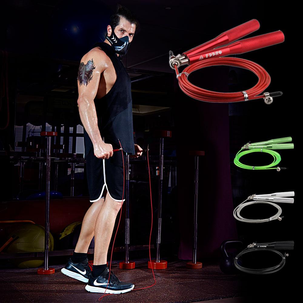 Mma Fitness Gear Equipment Home: FDBRO Adjustable Jumping Rope Aluminum Speed Crossfit