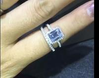 Изготовленный На Заказ item2carat mossanite Драгоценный Камень Обручальное кольцо из натуральной 585 пробы,