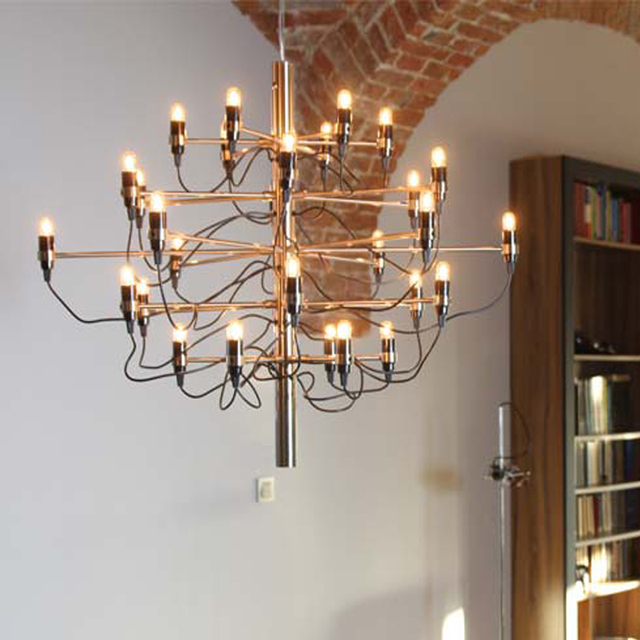 Mod 2097 Chandelier Gino Sarfatti 30 Heads E14 Bulbs Hanging Lamp Residential Dining Room Restaurant Lighting