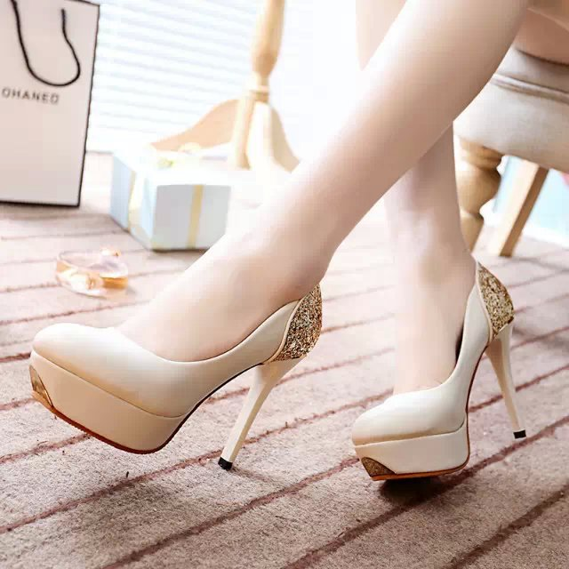 2017  new high heels fine with sexy shoes bride nightclub water table white wedding shoes crystal shoes women shoes 137 europe and super high heels 14cm fashion shoes waterproof fish head sexy nightclub fine with plaid shoes