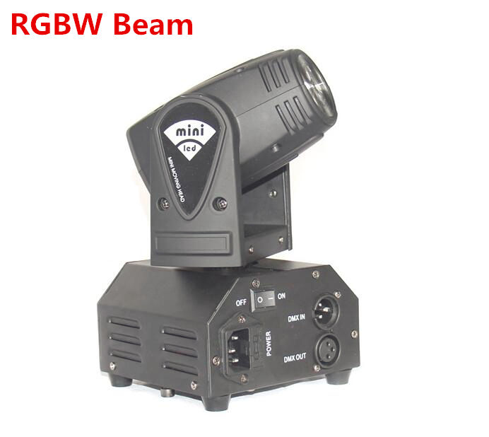 12W Mini led moving head DMX512 light beam Lights LED spot Lighting DJ Show Disco Laser Light RGBW 4in1 led цена