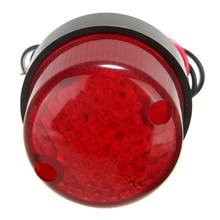 1PC Universal 12V Motorcycle Red Lens License Plate Brake Tail Light Mount Holder Multipurpose Lamp 3 Wires