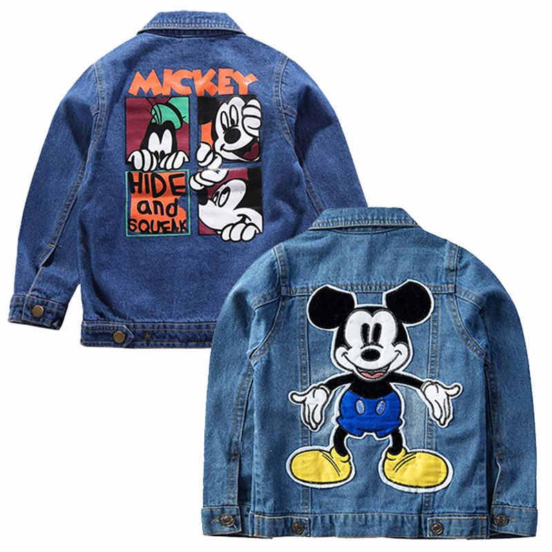 70c9ecf65 Children Mickey Mouse Denim Jackets Coat 2019 New Autumn Kids Cartoon  Fashion Printing Outerwear Baby Boy