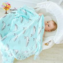 Муслиновое детское одеяло для новорожденных муслиновое Пеленальное