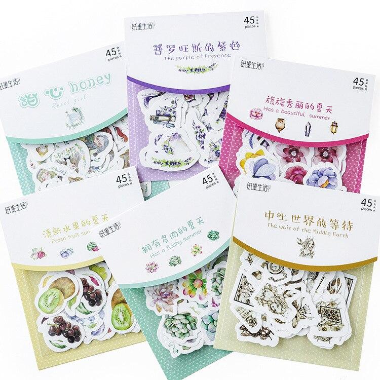 Купить с кэшбэком Sticker Bag Little Fairy Series Japanese Techo Decoration DIY Stickers