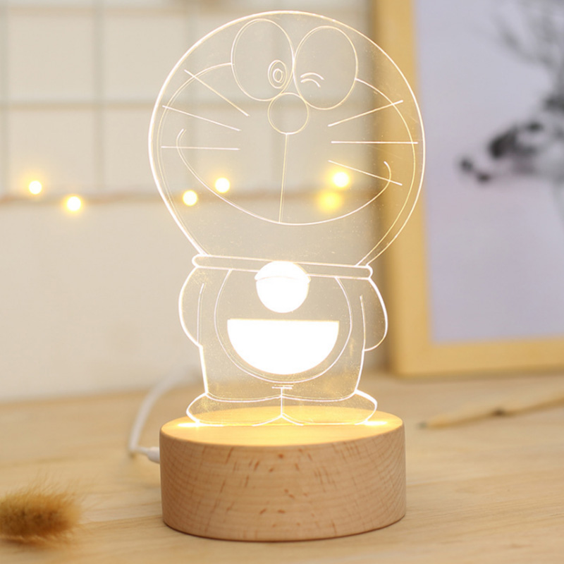 Cute Cartoon Animal Doraemon Modeling Led Lamp Powered By Dc 5v 3d Lighting Light Indoor Lighting Children Gift To Assure Years Of Trouble-Free Service