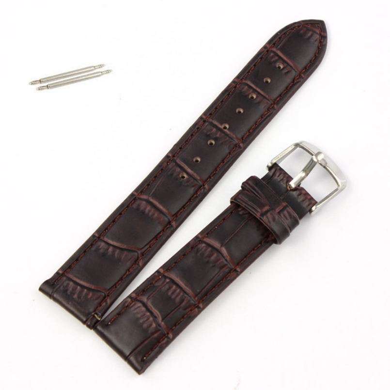 Excellent Quality 2016 New Design Watch Band with Soft Sweatband Genuine Leather Strap Steel Buckle Wrist Watch Band Brown 20mm аксессуар для волос brand new coolmall sweatband head band