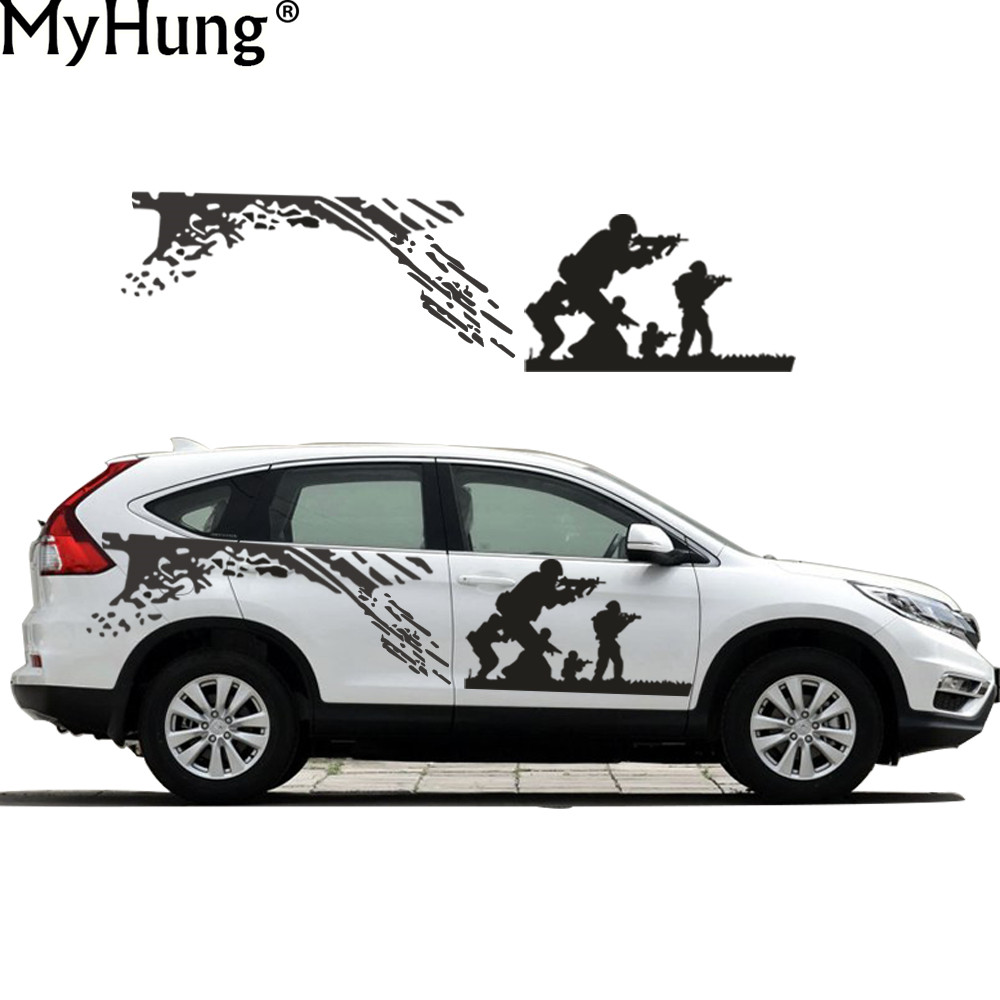 Sticker design for car online - New Car Styling Decal For Honda Cr V Cool Cs Army Battle Car Whole Body Sticker