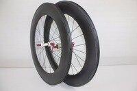 New U shape carbon fiber clincher wheel 88mm carbon wheel set